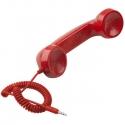 Červené retro slúchadlo k mobilu