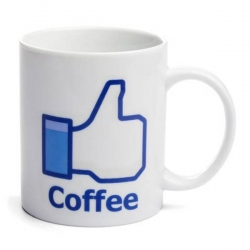 Facebook hrnček Like Cofee