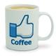 Facebook hrnček Like Cofee s kávou