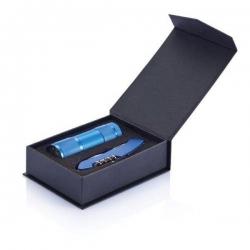 Kovová baterka s multifunkčným nožíkom 13 funkcií