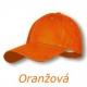 Šiltovka šesťstranná oranžová