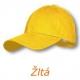 Šiltovka šesťstranná žltá