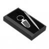 Chrómové luxusné pero s príveskom na kľúče