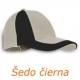 Šiltovka sedempanelová béžovo čierna