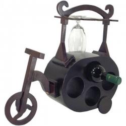 Stojan na víno a poháre bicykel