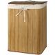 Bambusový kôš na prádlo prírodná farba