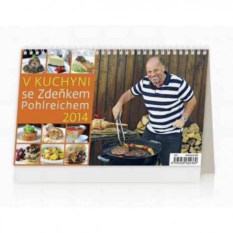 Stolový kalendár V kuchyni se Zdeňkem Pohlreichem ČR/SR 2014