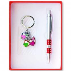 Pero a prívesok na kľúče - červená