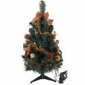 Ozdobený vianočný stromček s LED svetlami