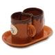 Keramické hrnčeky na kávu Tvoja káva - Moja káva