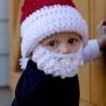 Detská mikulášska čapica s fúzmi