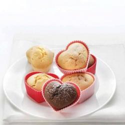 Valentínske silikónové formičky v tvare srdca