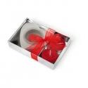Valentínsky svietnik v tvare srdiečka v darčekovom balení