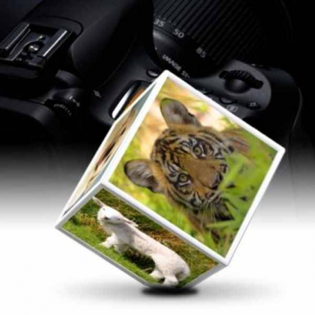 Rotujúci fotorámik na šesť fotografií