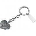 Prívesok na kľúče s kamienkami - tvar srdca