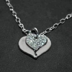 Náhrdelník srdce v srdci s kamienkami