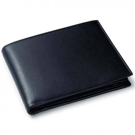 Čierna kožená peňaženka pre muža