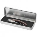 Čašnícky nôž s drevenou rúčkou v kovovej krabičke
