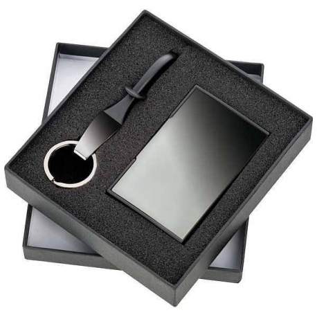 Čierna luxusná súprava prívesok, vizitkár