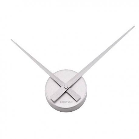 Strieborné hodiny - kovové ručičky 38 cm