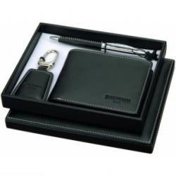 Značková súprava Balmain - pero, kľúčenka, peňaženka