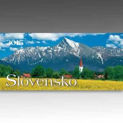 Riadkový stolový kalendár Slovensko 2015
