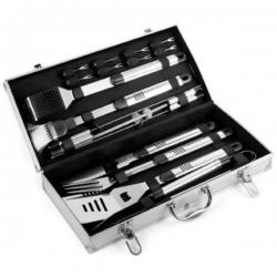 Súprava grilovacieho náradia v kufríku 18 kusov