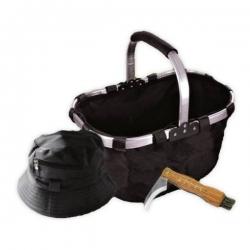 Darček pre hubárov - nôž, košík, klobúk, repelentný náramok