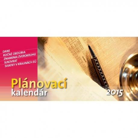 Plánovací kalendár na rok 2015