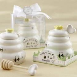 Darčeková nádoba na med s paličkou