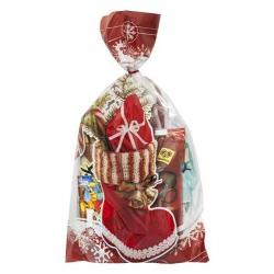 Mikulášske vrecko s čižmičkou plnou sladkostí