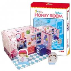 Dievčenské 3D puzzle kúpelňa