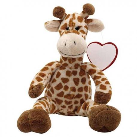 Plyšová žirafa so srdiečkom z lásky