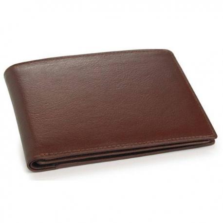 Hnedá kožená peňaženka