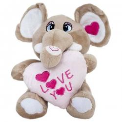 Sloník pre zaľúbených so srdiečkom I LOVE YOU
