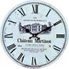 Hnedé kuchynské hodiny CHATEAU JOULLIAN