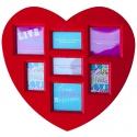 Fotorámik srdce na 7 fotografií