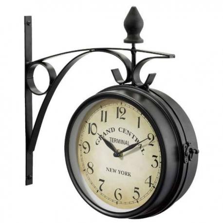 Kovové retro hodiny obojstranné