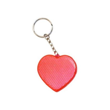 Prívesok na kľúče v tvare srdca červený