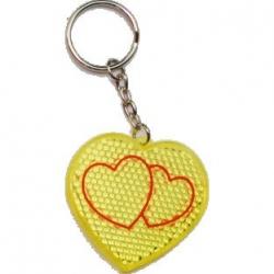 Prívesok v tvare srdca - žltá farba