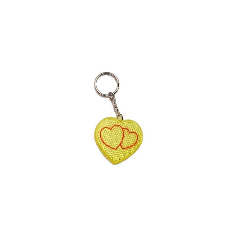 ... Prívesok v tvare srdca - žltá farba ... c180b1027c9