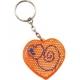 Prívesok v tvare srdca - oranžová farba