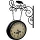 Obojstranné staničné hodiny s vtáčikom