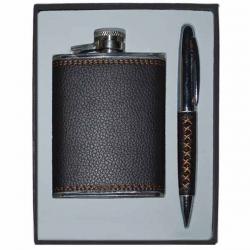 Ploskačka a pero v darčekovom balení