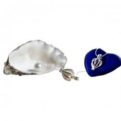 Perla prianí v ulite s náhrdelníkom