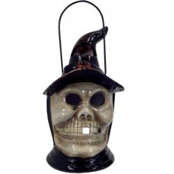 Halloweenský lampáš keramický