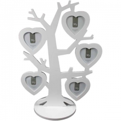 Biely fotorámik v tvare stromu samostatne stojaci