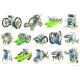 Všetkých 14 variácií poskladania robota