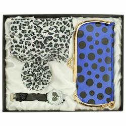 Darčekový set pre dámy - peňaženka, brošňa, šatka, hodinky