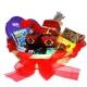 Sladký darček v prútenom košíku